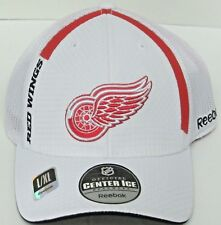 NHL Detroit Red Wings Multi-Color Mesh Back Flexfit Fitted Hat By Reebok 1e325d02b