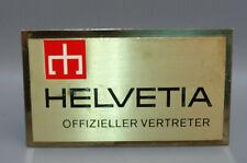 HALVETIA OFFIZIELLER VERTRETER Watch Shop Display Advertising Bronze Swiss Sign