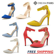 DREAM PAIRS Women's Pointed Toe Ankle Strap High Heel Stiletto Pumps Shoes