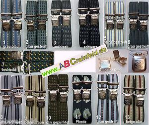 Hosenträger, 35 mm breit, Hosentäger, extra starker Alligatorclip, viele Farben