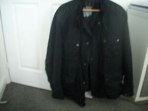 BARBOUR INTERNTIONAL  WAX DUKE MOTORCYCLE STYLE JACKET IN EXCELLENT CONDITION.
