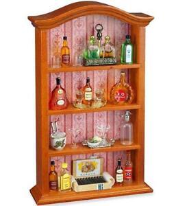 Dollhouse Miniature Complete Liquor Shelf 1.715/5A Filled Reutter