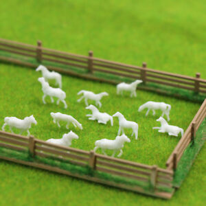 Model Horse 1:150 Unpainted Horse White Farm Animal Horses N Scale Model Scenery