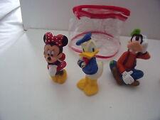 """4 x 6 """"MICKEY MOUSE & FRIENDS SQUEEZE TOYS VASCA DA BAGNO PISCINA in Borsa da trasporto-DISNEY"""