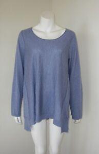 EILEEN FISHER Purple Pullover Sweater Tencel Wool Alpaca Blend Size XL