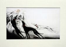 """Louis Icart Mounted Print - Coursing  LC2 - Erotic Art  SIZE  14"""" X 10"""""""