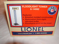 Lionel 6-14092 Floodlight Tower O 027 New Illuminated 8 Bulbs Pivots Accessory
