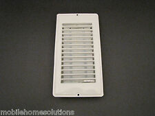 "Mobile Home RV Parts Floor Register 4""x8"" White Metal Floor Vent Air Diffuser"