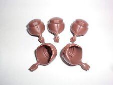 Playmobil 5 x Cheveux Poil de Garde Coiffure brun avec rouleau Français Anglais