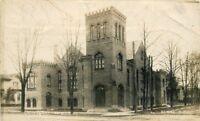 Church of Christ Elmira New York 1910 RPPC Photo Postcard 11960