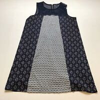 Xhilaration Blue Print Sleeveless Shift Dress Size Large A604