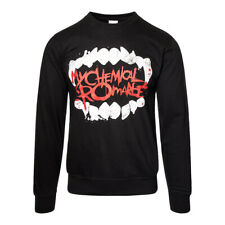 Official Jumper MY CHEMICAL ROMANCE Black FANGS Print Sweatshirt All Sizes