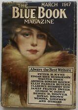 Rare Antique March 1917 Blue Book Magazine Literary Pulp Tarzan E. R. Burroughs