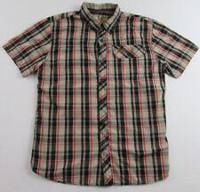 Mossy Oak Hunting Wear Plaid Single Pocket SS Buttonfront Shirt Size M
