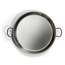 Traditional Paella Pan 46cm Polished Steel Non-Stick