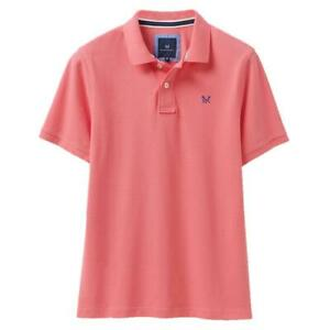 Crew Clothing Classic Pique Polo Shirt - Bright Coral - RRP £37