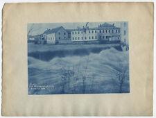 CYANOTYPE  FAST RIVER, WOONSOCKET FALLS, RHODE ISLAND. 1900S.
