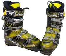 Rossignol Alias Sensor 100 Ski Boots Mondo 26.5/Mens 8.5 - Yellow/Gry/Blk - USED