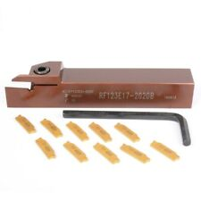 1PCS RF123E17-2020B Tool holder +10PCS N123E2-0200 2mm width cutting insert