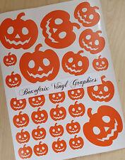 Pumpkin Vinyl Wall Art window Stickers sheet - Halloween