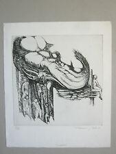 BÉALU François Gravure originale 69 Dédalus signé Amilly Erotisme Etching