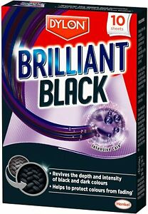 New Dylon Brilliant Black Laundry Sheets 10 Sheets Per Pack Help Prevents Fading