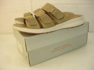 NIB Women's sz 8 M Clarks Unstructured Un Adorn Lane Sandals Sand Nubuck Leather