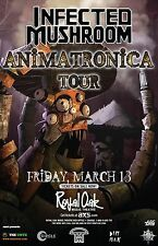 "INFECTED MUSHROOM ""ANIMATRONICA TOUR"" 2015 DETROIT CONCERT POSTER- Electro House"