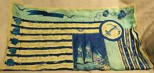 Vintage Marja Kurki Meren Aalloilla Nauticla Theme 100% Large Silk Scarf