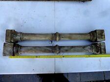 2 COLONNES CHËNE 19ème,néo gothique,objet,déco,original,sculpté main