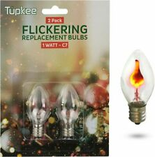 Tupkee C7 Flickering Flame Bulb – 1W, Incandescent Light Bulb - 2/Pkg