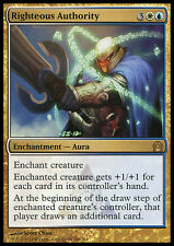 RIGHTEOUS AUTHORITY NM mtg Return to Ravnica Gold - Enchantment Aura Rare