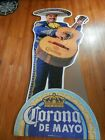 NEW CORONA EXTRA CERVEZA BEER MARIACHI  6 FOOT STANDUP-  WITH REMOVEABLE FACE