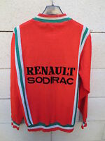 VINTAGE Veste cycliste RENAULT SODIRAC C.C.V cycling jacket rouge 70's M