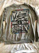 Men's Volcom Stone Gray Light Weight Snowboard Skate Pullover Sweatshirt Sz M