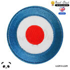Lambertta Mod Scooter shooting Flag Vespa Embroidered Iron On Sew On PatchBadge