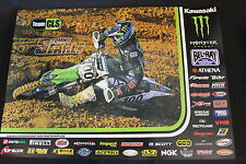 Poster Team CLS Monster Kawasaki KX450F 2014 #100 Tommy Searle (GBR) MXGP (HW)