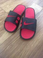 Nike Men's Beach & Pool Slides - Black And Red Uk 11 Sliders