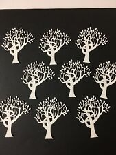 Tree 1 die cut for cards or scrapbook 9 pieces