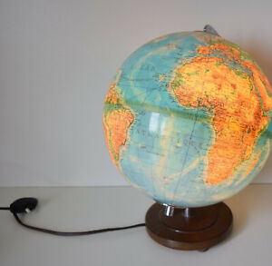 Ancien Globe Terrestre Lumineux Mappemonde Duplex, Colomb, Columbus Verlag