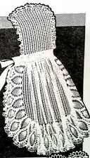 915 Vintage Laura Wheeler PINEAPPLE APRON Pattern to Crochet (Reproduction)