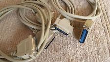 Set mit 2x RS232 Kabel male/male + 1x Druckerkabel Centronix/RS232 (3 Kabel)