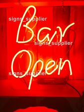 "New Bar Open Neon Light Sign 14""x10"" Beer Cave Gift Real Glass Decor Gift Lamp"