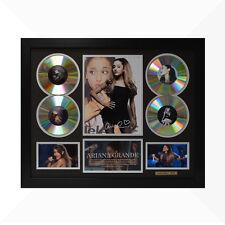 Ariana Grande Signed & Framed Memorabilia - 4 CD - Black/Silver Limited Edition