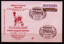 BRD Brief MiNr ATM 2.1 K (PMR Nr 41aII) Freiheitsstatue F A Barholdi Freimaurer