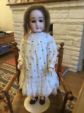 "Lovely 24"" Antique French Doll Limoges pretty antique clothes Says Mama #"