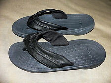 Crocs Mens Yukon Mesa M Flip Flop, Black/Black, 8 M US