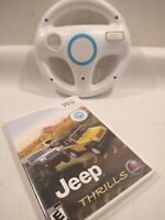 Nintendo Wii Steering Wheel with Jeep Thrills Game - Tested