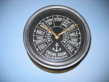 "Nautical Steamship Throttle ""Full Speed Ahead"" RMS TITANIC-type Wall Clock 9"""