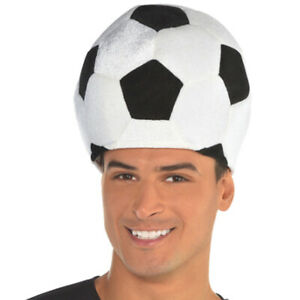 SOCCER BALL SHAPED PLUSH HAT~ Halloween Birthday Party Supplies Favor Sports